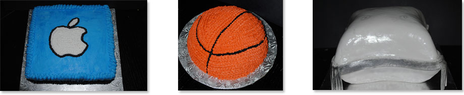 Cakes - Bizcochos - Mac Cake, Basketball Cake, Pillow Cake for wedding engagement